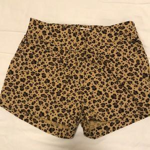 NWT leopard print shorts